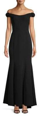 Vince Camuto Folded Off-Shoulder Fit-&-Flare Gown