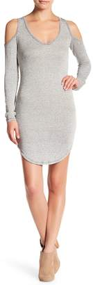 American Twist V-Neck Cold Shoulder Knit Dress