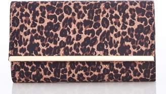 Next Womens Quiz Leopard Flip Clutch Bag