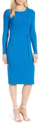 MICHAEL Michael Kors Belted Rib Knit Dress