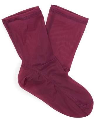 Darner Socks - Mesh Ankle Socks - Womens - Purple