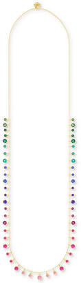 "Swarovski Gold-Tone Multicolor Crystal 33-1/2"" Statement Necklace"