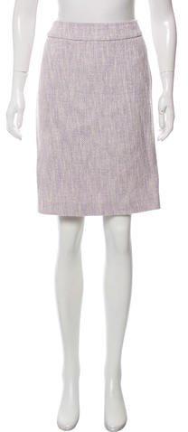 Armani Collezioni Tweed Knee-Length Skirt