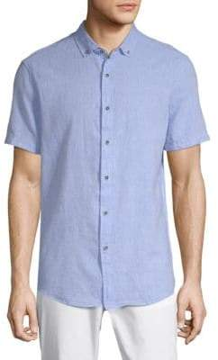 Report Collection Linen Blend Sport Shirt