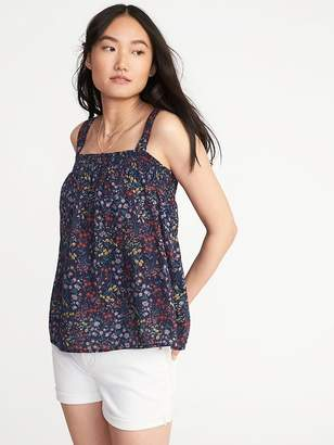 Old Navy Smocked Floral Swing Top for Women