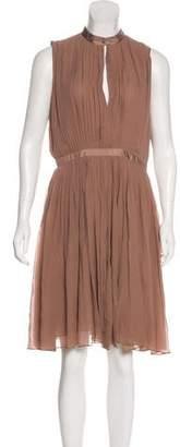 Just Cavalli Silk Pleated Dress