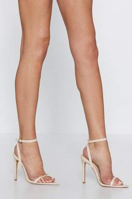 Nasty Gal Point Me to the Bar Strappy Heel