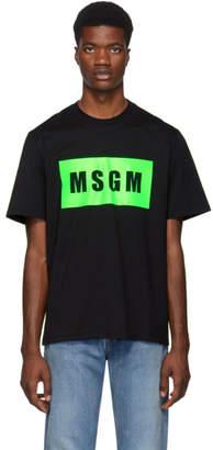 MSGM Black Box Logo T-Shirt