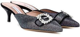 Tabitha Simmons Jolie glitter mules