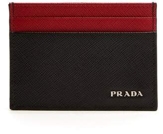 903d10622c04 best price com prada saffiano leather cardholder mens black multi 021fe  73d2e