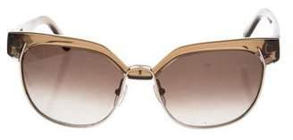 Chloé Half Rim Tinted Sunglasses