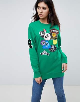 Replay Long Patch Detail Sweatshirt