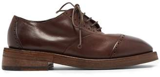 Marsèll Mentone Leather Brogues - Mens - Dark Brown