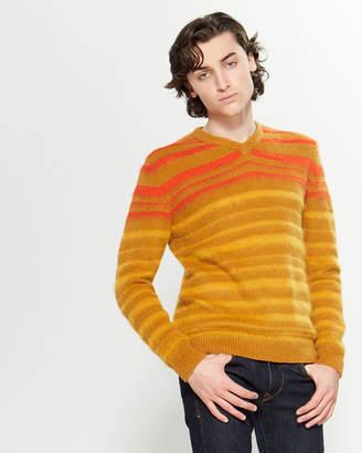 Roberto Collina Stripe Contrast Long Sleeve Sweater