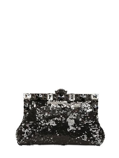 Dolce & Gabbana Small Vanda Sequined Clutch