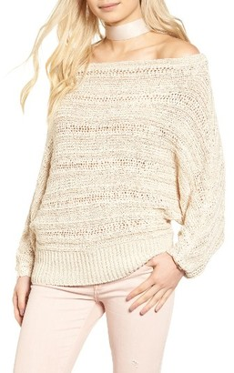 Women's Leith Off The Shoulder Sweater $69 thestylecure.com