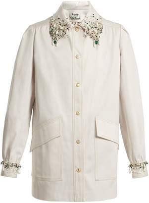 Acne Studios Josebe embellished cotton jacket
