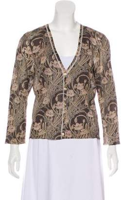 Tory Burch Long Sleeve Button-Up Cardigan