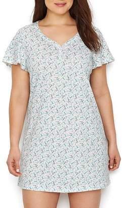 Karen Neuburger Henley Knit Sleep Shirt