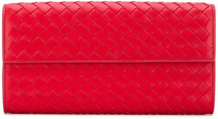 Bottega VenetaBottega Veneta interlaced continental wallet