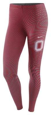 Nike Nike College Leg-A-See (Michigan) Women's Tights Size Small (Blue) - Clearance Sale
