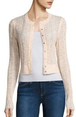 Rebecca Taylor Flamme Rib-Knit Cardigan $275 thestylecure.com