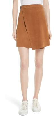Theory Double Face Suede Wrap Skirt