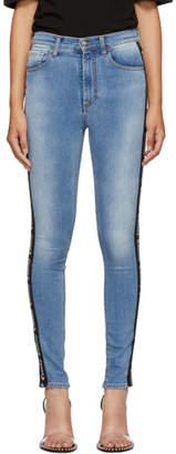 Marcelo Burlon County of Milan Blue Vintage Skinny Jeans
