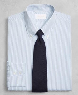 Brooks Brothers Golden Fleece Regent Fitted Dress Shirt, Button-Down Collar Blue Micro-Stripe
