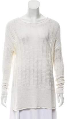 Vince Linen Long Sleeve Sweater