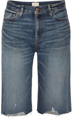 Simon Miller Gannett Frayed Denim Shorts - Mid denim