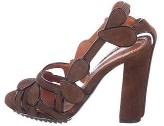 Lanvin Slingback Suede Sandals