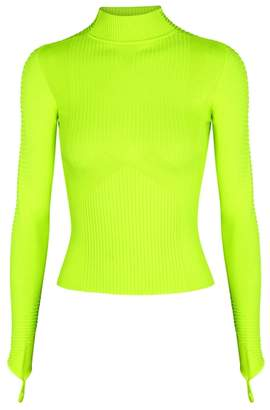 Adam Selman Sport Neon Yellow Ribbed