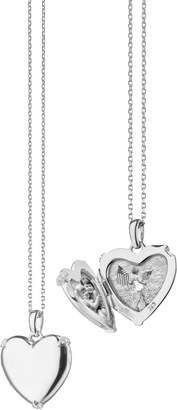 Monica Rich Kosann Slim Heart Locket Necklace