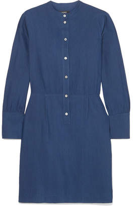 A.P.C. Kimya Jacquard Mini Dress - Navy