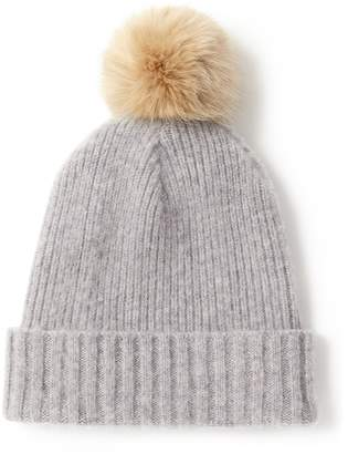 Jigsaw Brushed Faux Fur Pom Hat