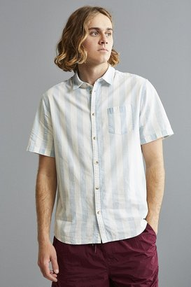 Urban Outfitters UO Broad Stripe Short Sleeve Button-Down Shirt $44 thestylecure.com