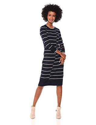 Gabby Skye Women's 3/4 Sleeve Mock Neck Midi Sweater Sheath