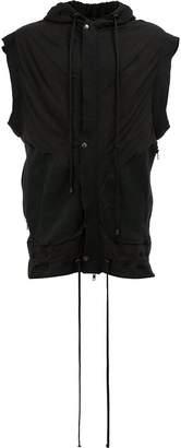 Di Liborio sleeveless buttoned hoodie
