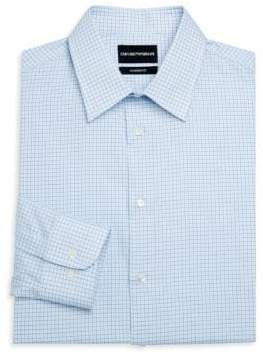 Emporio Armani Modern Fit Check Button-Down Shirt
