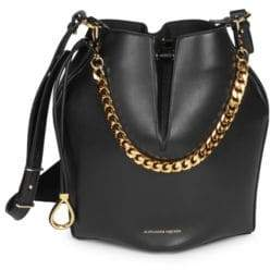 Alexander McQueen Dual Strap Leather Bucket Bag