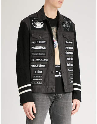 Undercover Atmosphere lyric-appliqué denim jacket