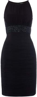 JS Collections Bodycon dress with beaded waist