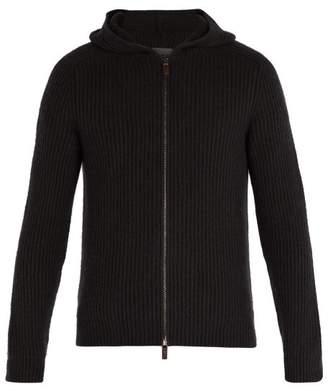 Iris Von Arnim - Lyonel Zip Through Hooded Cashmere Sweater - Mens - Black
