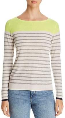 Majestic Filatures Striped Color Block Cashmere Sweater