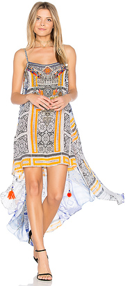 Camilla Mini Dress with Overlay in Blue $500 thestylecure.com