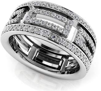 Glamorous PEACOCK JEWELS 14k Gold (HallMarked Diamond Eternity Engagement Wedding Ring Size - 8