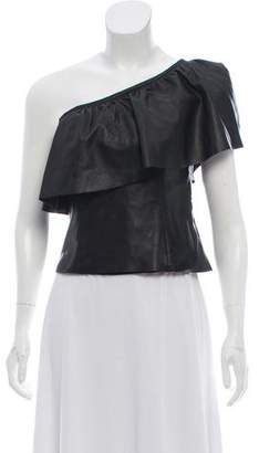 A.L.C. Leather Off- Shoulder Top w/ Tags