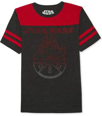 Star Wars Millennium Falcon-Print T-Shirt, Big Boys