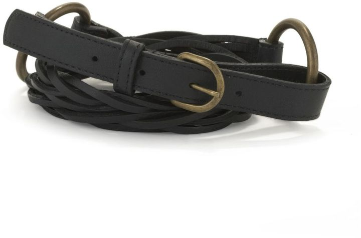 Eileen fisher loose-braid belt